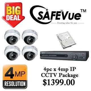 CCTVSG.NET SafeVue 4PCS×4MP IP CCTV Package