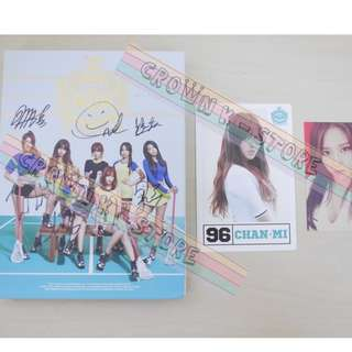 [ONLY HAVE 1PC][CRAZY DEAL 50% OFF FROM ORIGINAL PRICE][READY STOCK][RARE]AOA KOREA 3RD MINI ALBUM WITH ALL MEMBER REAL HAND AUTOGRAPHED+2PC PHOTO CARD(UNSEALED) NO POSTER!OFFICIAL ORIGINAL FROM KOREA (PRICE NOT INCLUDE POSTAGE)