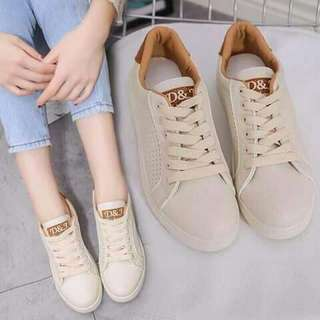 White And Goldish Rubber Shoes
