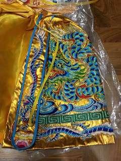 15寸 金色 龙袍 神佛