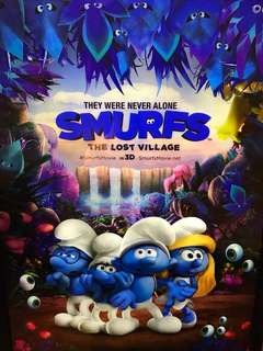 Smurf movie poster