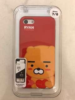 Iphone 7/8 KAKAO FRIENDS 多功能電話殼 Card Slidecase [Heart Ryan]