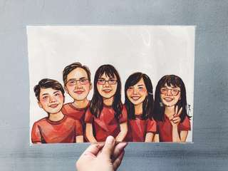 Personalised Watercolour Portraits