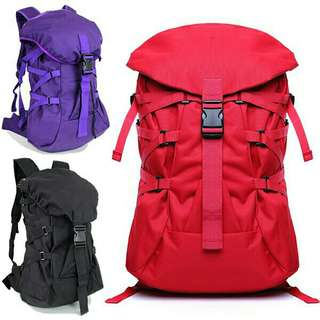 Unisex Polyester Stylish Travel Backpack 《READY STOCK》