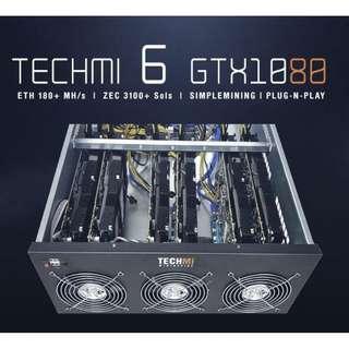 6 GPU Nvidia GTX 1080 8GB - Mining Rig PLUG-N-PLAY OS