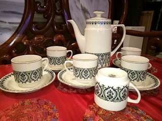 Chinese kun lun vintage teapot set new 12 pcs