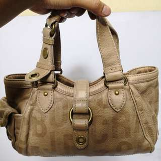 Marc by Marc Jacobs Dark Beige Leather Handbag