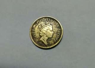 1990年港幣伍毫(一幣兩版的混合體)只供鑑賞