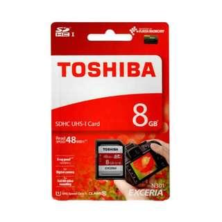 Toshiba THN-N301R0080C4 8GB 48mbps class 10 SDHC Card