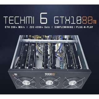 6 GPU Nvidia GTX 1080ti 8GB - Mining Rig PLUG-N-PLAY OS