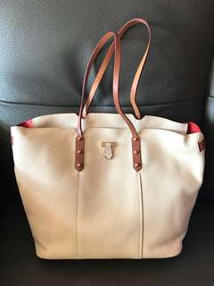 🈹New Furla leather white tote bag 全新米白色真皮返工袋