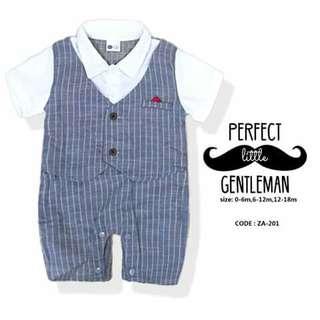 Gentleman Baby Romper - ZA201