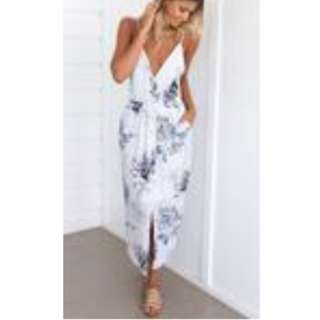 Mura Boutique Maxi dress Floral Blue