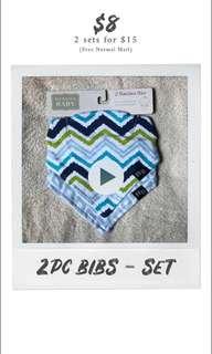 2 pieces Baby Bibs - Set