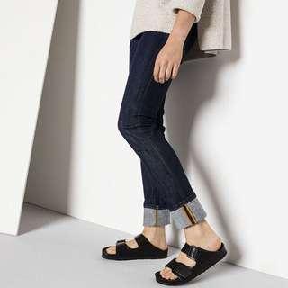 全新轉賣💎勃肯Birkenstock 高質感牛皮黑色拖鞋 37/24號 原價5千購入