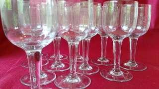法國手工古董酒杯組