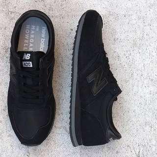 |日本直送|限定 MARGARET HOWELL x NEW BALANCE 420 聯名 皮革 全黑 休閒鞋 23 23.5