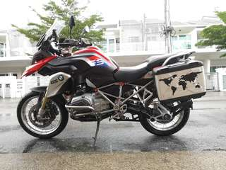 BMW R1200GS racing red