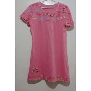 Comfy pink ribbon sleepwear