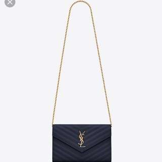 *RARE* Navy Blue YSL Wallet on Chain