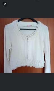 [New] White Princess Cardigan Coat Sweater