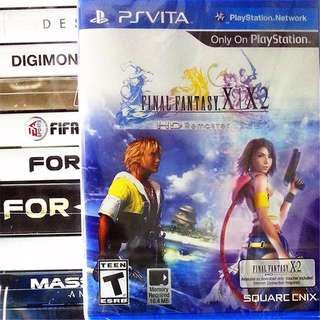 [NEW NOT USED] 2 IN 1 PSV FINAL FANTASY X / X-2 HD REMASTER PlayStation VITA RPG Square Enix