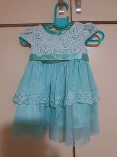 Lacey mint green dress for your little girl