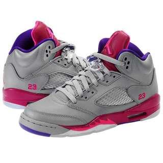 Air jordan 5 retro gs 440892-009 灰桃紫 女鞋童鞋