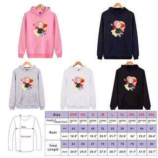 Bts Cartoon Hoodies