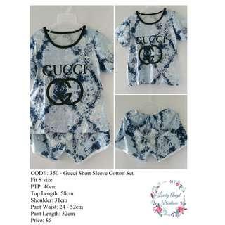 Gucci Short Sleeve Cotton Set - BRAND NEW