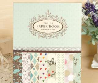 Vintage Wrapping paper Art and Craft Book