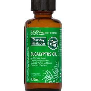 🚚 [100ml][FREE MAIL]Thursday Plantation Eucalyptus Oil