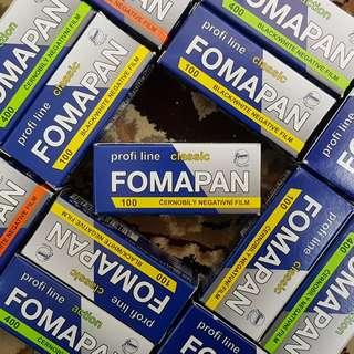 120mm Fomapan Profi Line Classic 100 Black & White Fresh Film ( iso 100 ) 120 Film Format