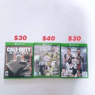 Xbox Games! BLACK OPS, FIFA17, UFC 2