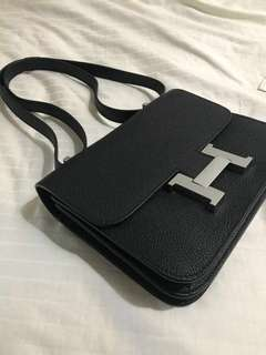 Boutique Quality Hermes Constance Black Togo Leather