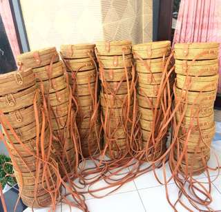 Rattan Circle Bags