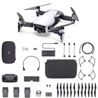 (Please note only ONYX BLACK or FLAME RED in stock) NETT PRICE, With 3 Batteries, DJI Mavic Air Fly More Combo Remote-Controlled Aerial Drone, WHITE. Code: DJI-MAVIC-AIR-C