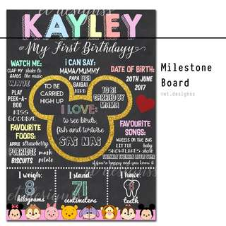 BIRTHDAY MILESTONE FOAM BOARD
