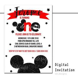BIRTHDAY DIGITAL INVITATION