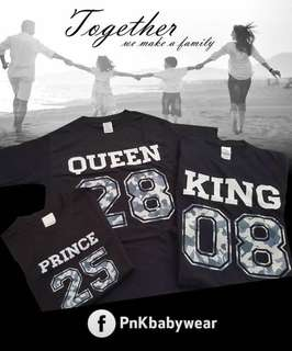 (FREE customised) Numbering Family T-shirt
