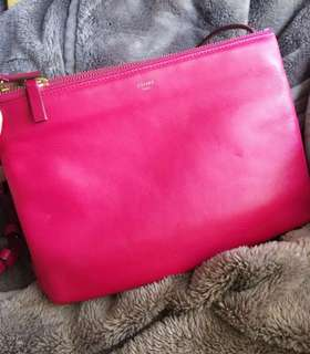 💗Celine small Trio Bag shocking pink💗