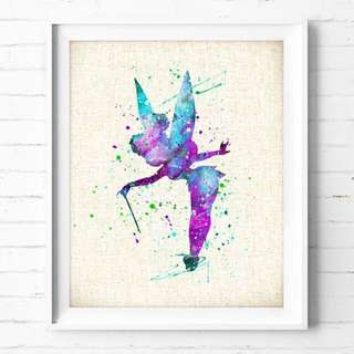 tinker bell water print painting