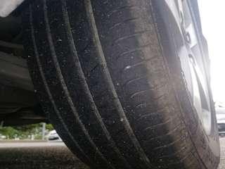 HONDA FD sport rim 16' 90% tyres continental
