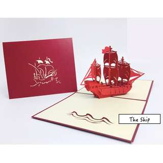 The Ship [3D] Greetings Card