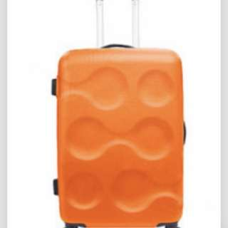 普普風行李箱 橘色