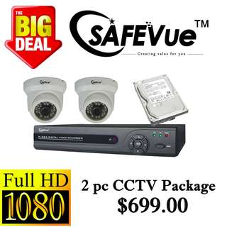 SafeVue 1080P IP CCTV Package 2