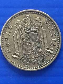 Spain 1 peseta Y1966