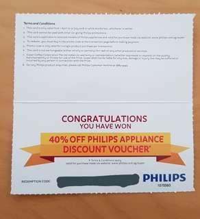 Philips 40% discount voucher