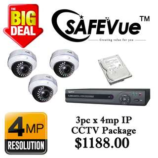 SafeVue 4MP IP CCTV Package 3