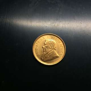 South Africa 1984 1/4 oz gold coin (2)